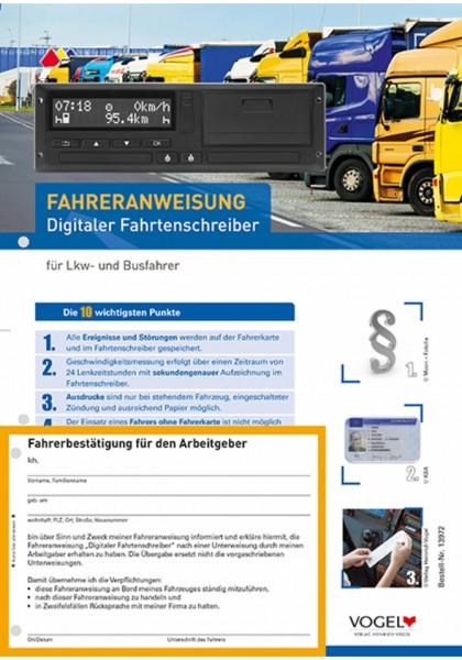 Fahreranweisung Digitaler Fahrtenschreiber